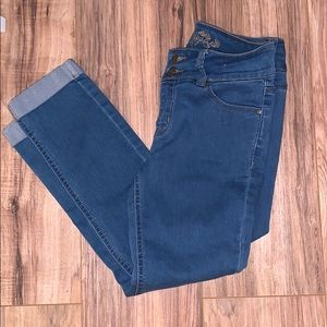 Wax jean skinny crop